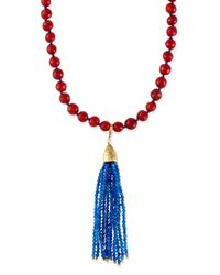 Rosantica | Red Beaded Tassel Necklace | Lyst