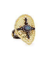 Armenta - Metallic Old World Mesh Pear Ring - Lyst