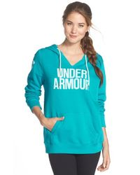 Under Armour | Blue 'favorite - Worldmark' Hoodie | Lyst