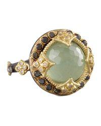 Armenta - Green Turquoise & Black Diamond Crivelli Ring - Lyst