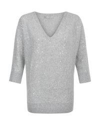Hobbs - Gray Selena Sweater - Lyst