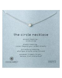 Dogeared | Metallic Sterling Silver The Circle Necklace | Lyst