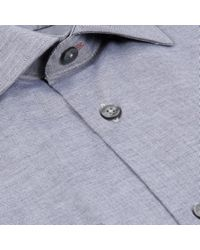 Paul Smith - Gray Men's Tailored-fit Grey Oxford-cotton Shirt for Men - Lyst