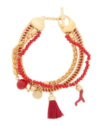 Henri Bendel | Red East Hampton Charm Bracelet | Lyst