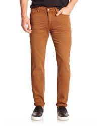 7 For All Mankind | Brown Luxe Performance: Slimmy Slim Straight-leg Jeans for Men | Lyst