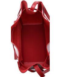 Loeffler Randall - Red Lock Drawstring Bucket Bag - Lyst