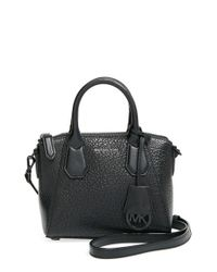 MICHAEL Michael Kors | Black XS Campbell Grained-Leather Satchel | Lyst