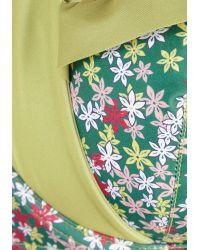 Shark Tm - Green Wildflower Patch Swimsuit Top - Lyst