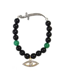 CB Bronfman | Black Diamond Eye Bead Bracelet | Lyst