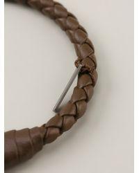 Bottega Veneta - Brown Woven Rigid Bracelet for Men - Lyst