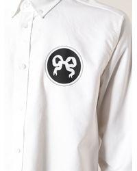Soulland - White Ribbon Print Shirt for Men - Lyst