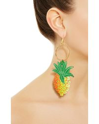 Stella Jean - Multicolor Pineapple Pendant Earrings - Lyst