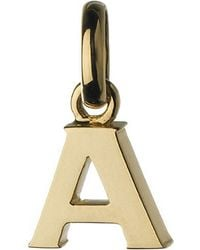 Links of London | Metallic Alphabet A 18ct Yellow-gold Charm | Lyst