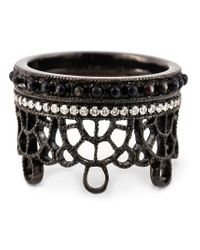 Joelle Jewellery | Brown Antique Effect Diamond Crown Ring | Lyst