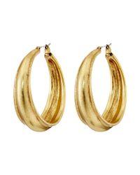 Lucky Brand - Metallic Hoop Earrings - Lyst