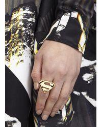 Noir Jewelry - Metallic X Dc Comics Superman 18Kt Gold Plated Ring - Lyst