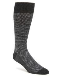Calibrate - Gray Jacquard Pattern Socks for Men - Lyst
