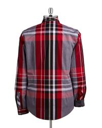 Guess | Red Clark Coated Plaid Sportshirt for Men | Lyst