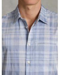John Varvatos | Blue Adjustable Sleeve Slim Fit Shirt for Men | Lyst