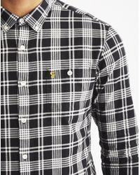 Farah - Black Lanark Long Sleeve Shirt for Men - Lyst
