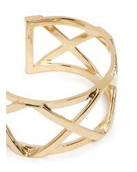 Philippe Audibert | Metallic Cutout Cross Cuff | Lyst