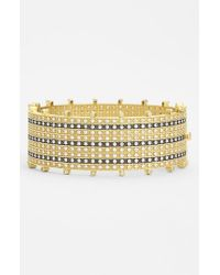 Freida Rothman - Metallic 'metropolitan' Tuxedo Stripe Hinged Bangle - Lyst