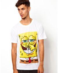 ELEVEN PARIS   White Tshirt with Spongebob Print for Men   Lyst