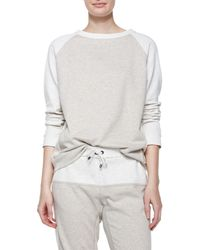 Brunello Cucinelli - Gray Color-Blocked Spa Sweatshirt - Lyst