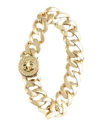 Marc By Marc Jacobs - Metallic Goldtone Turnlock 'small Katie' Bracelet - Lyst