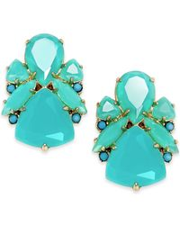 kate spade new york - Blue 14k Gold-plated Color Pop Stud Earrings - Lyst