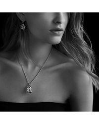 David Yurman   Blue Cable Wrap Drop Earrings With Diamonds   Lyst