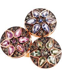 Ileana Makri - Pink Deco Triple Flower Ring - Lyst
