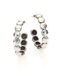 John Hardy - Metallic Palu Sterling Silver Disc Hoop Earrings/0.95 - Lyst