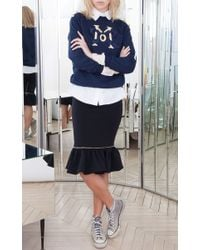 Alexis Mabille - Blue Navy Embroidered Epaulette Sweatshirt - Lyst