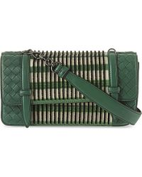 Bottega Veneta | Green Intrecciato Graphic Shoulder Bag | Lyst