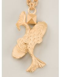Valentino - Metallic Fish Pendant Necklace - Lyst