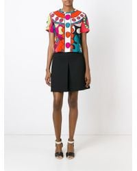 RED Valentino - Multicolor Polka Dot Print Blouse - Lyst