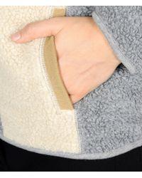 Napapijri | Gray Hooded Fleece Jacket  | Lyst