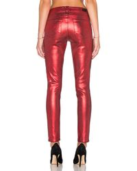 PAIGE - Red Indio Zip Ultra Skinny - Lyst