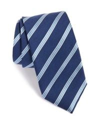 Eton of Sweden | Blue Stripe Silk & Wool Tie for Men | Lyst