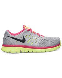 Nike - Gray Women'S Flex Run 2013 Running Sneakers From Finish Line - Lyst