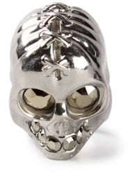 Alexander McQueen | Metallic Punk Skull Ring for Men | Lyst