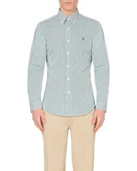Ralph Lauren | White Striped Slim-fit Cotton Shirt for Men | Lyst