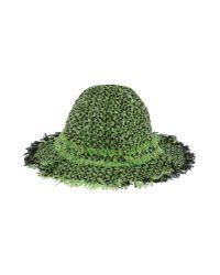 Lanvin | Green Tweed Hat | Lyst
