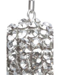 Isabel Marant - Metallic Silver Crystal Embellished Ball Drop Earrings - Lyst