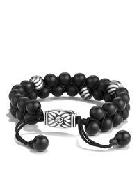 David Yurman | Spiritual Beads Two-row Bracelet With Black Onyx | Lyst