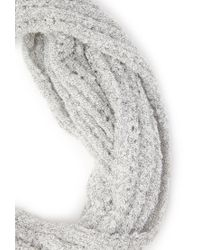Forever 21 - Gray Open Knit Infinity Scarf - Lyst