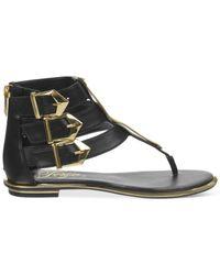 Fergie - Black Sammy Flat Gladiator Thong Sandals - Lyst