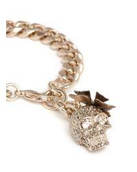 Alexander McQueen - Metallic Butterfly Skull Swarovski Crystal Bracelet - Lyst