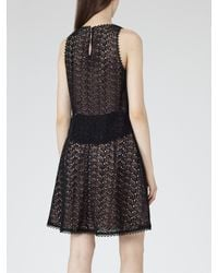 Reiss | Black Layered Lace Dress | Lyst